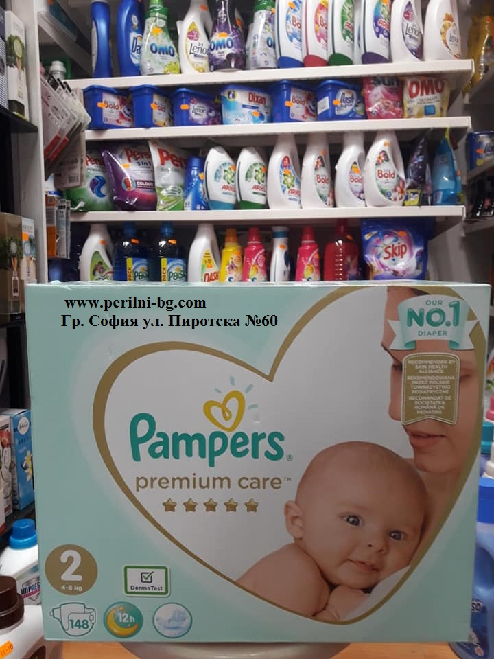 Pampers Premium Care № 2 (от 3 до 6 кг.) - 148 броя.